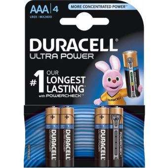 4 Piles AAA Duracell Ultra Power