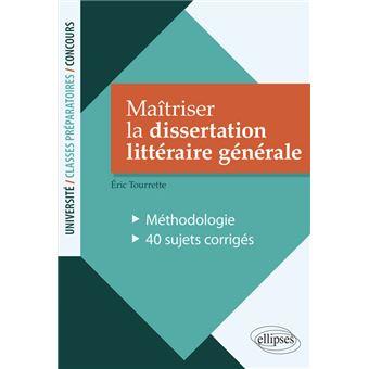 Dissertation litteraire methodologie