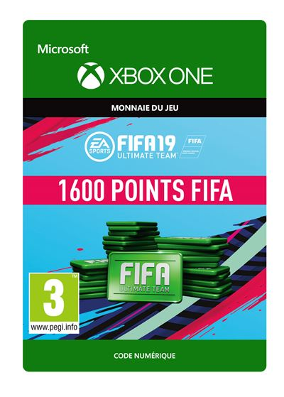 Code de téléchargement FIFA 19 Ultimate Team 1600 Points Xbox One