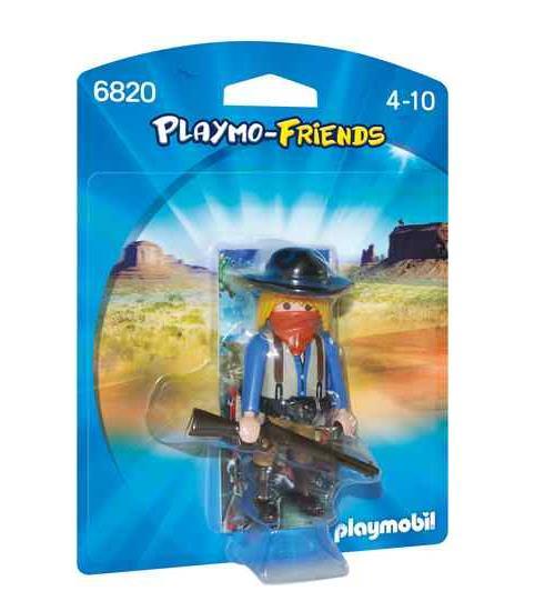PLAYMO-FRIENDS : Les nouvelles figurines à collectionner ! Cow-boy avec fusil et bandeau.