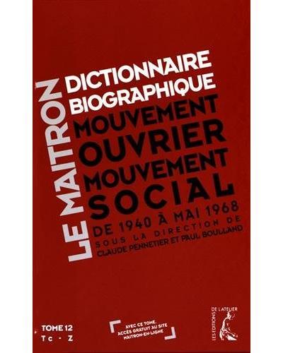 Dictionnaire biographique maitron