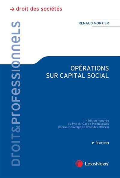 Opérations sur capital social