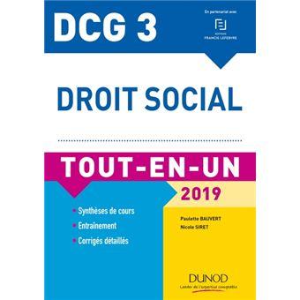 Dcg 3 droit social 2018-2019