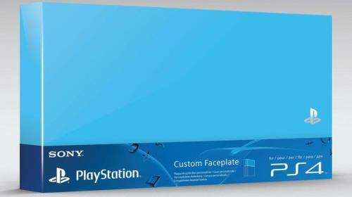 Accessoire Sony Custom Faceplate Aqua Bleu pour Console PS4