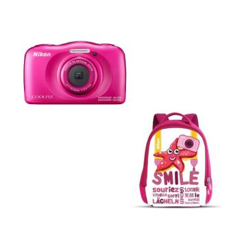 Compact Nikon Coolpix W100 Rose + Sac
