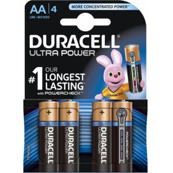 4 Piles AA Duracell Ultra Power