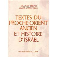 Textes du Proche-Orient ancien et histoire d'Israël