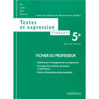 Francais 5e Textes Expres Prof