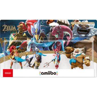 Pack Figurines Amiibo The Legend of Zelda Breath of the Wild Urbosa + Revali + Mipha + Daruk
