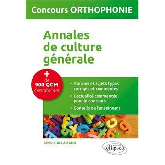 Culture générale orthophonie