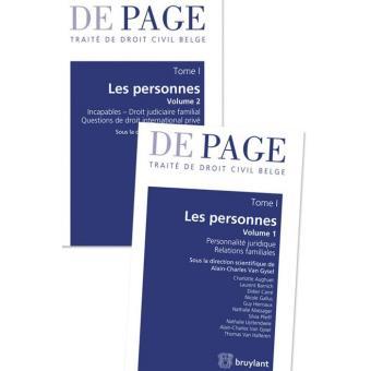 8ff6f54ee3f Traité de droit civil belge - Tome I   Les personnes. Volumes 1 et 2 ...