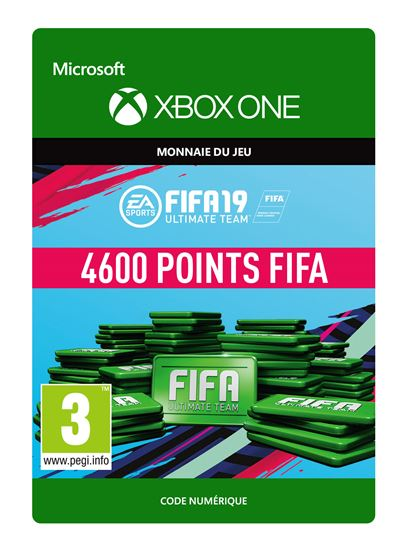 Code de téléchargement FIFA 19 Ultimate Team 4600 Points Xbox One