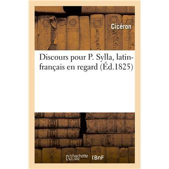 Discours pour P. Sylla, latin-français en regard