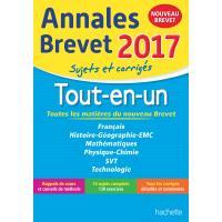 Annales Brevet 2017 Le Tout-en-un 3ème