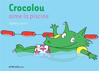 Crocolou -  : Crocolou aime la piscine