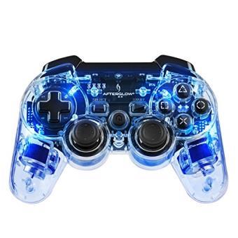Manette Afterglow sans fil pour PS3 Bleu