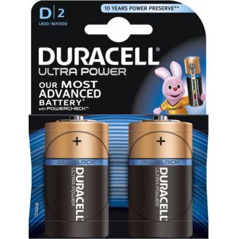 2 Piles D Duracell Ultra Power