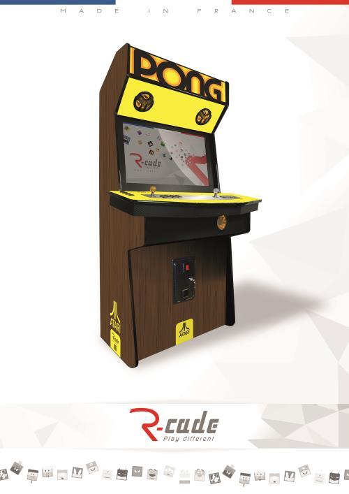 Borne d´arcade R Cade Jamma Elite avec Habillage Atari Pong