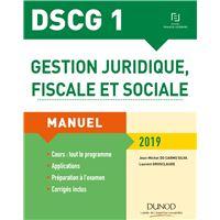 Dscg 1 gestion juridique fiscale et sociale 2018-2019