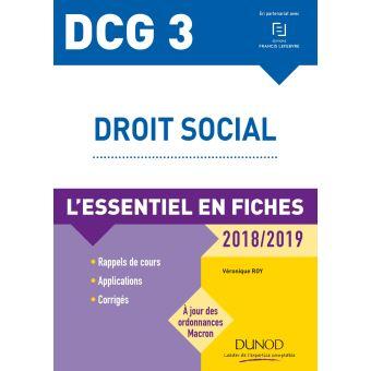 fe4e4c4706d DCG 3 - Droit social - 2018 2019 - L essentiel en fiches L essentiel ...