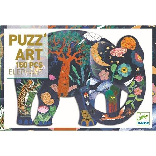 Puzzle 150p Éléphant Puzz'art Djeco