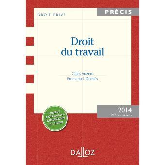 ee22891b989 Droit du travail Edition 2014 - broché - Jean Pélissier