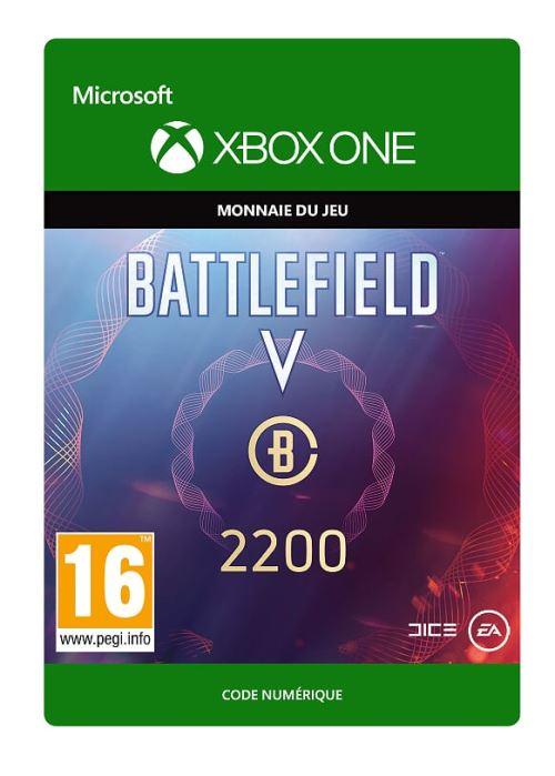 Code de téléchargement Battlefield V Monnaie de Battlefield 2200 Xbox One