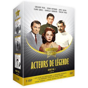 Coffret Acteurs de légende Volume 3 DVD