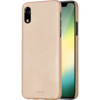 Azuri Metallic Cover Soft Touch iPhone XR Gold