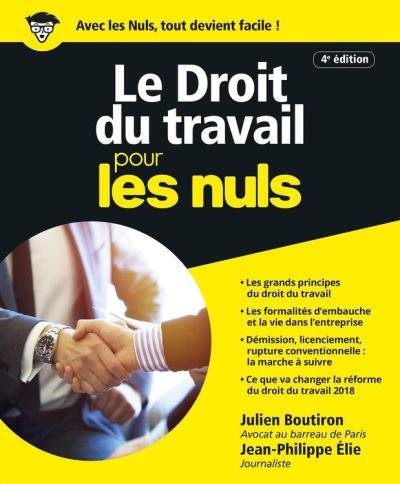 Le Droit du travail pour les Nuls, grand format, 4e édition - 9782412040195 - 15,99 €