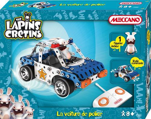 Lapins Crétins Meccano Commandé Radio Police De Voiture IEHW92D