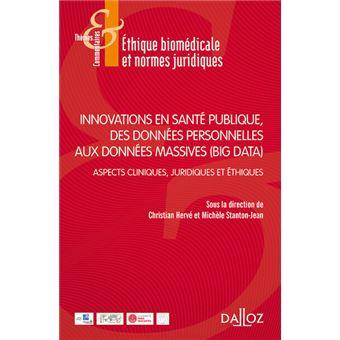 Innovations en santé publique, des données personnelles aux données massives (Big Data)- 1re éditio