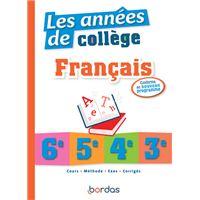 Les années de collège - Français