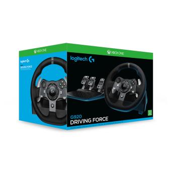 pack volant et p dales logitech g920 driving force pour pc et xbox one accessoire console de. Black Bedroom Furniture Sets. Home Design Ideas