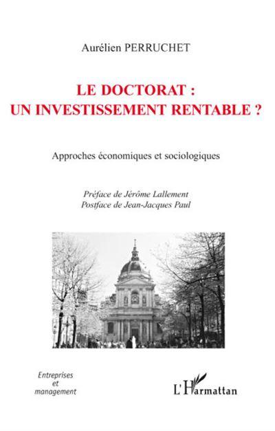 Le doctorat, un investissement rentable ?