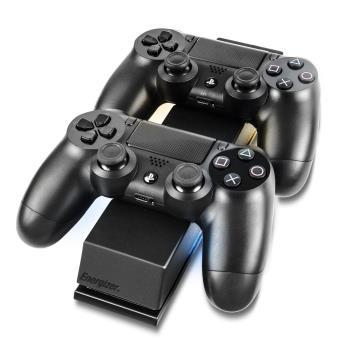 Chargeur double Energizer 2x Extra Life pour PS4 Noir