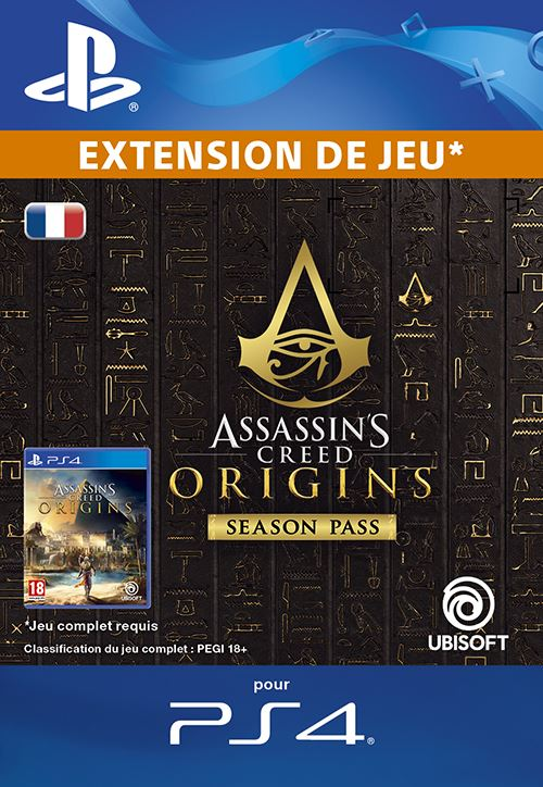 Code de téléchargement Assassin's Creed Origins Season Pass PS4