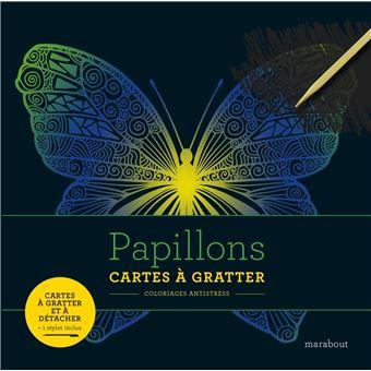 Coloriage Adulte Bonne Annee.Livre A Gratter Papillons Cartes A Gratter Broche Collectif