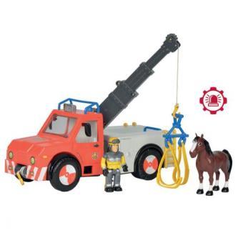 Camion grue smoby sam le pompier camion achat prix fnac - Camion pompier sam ...