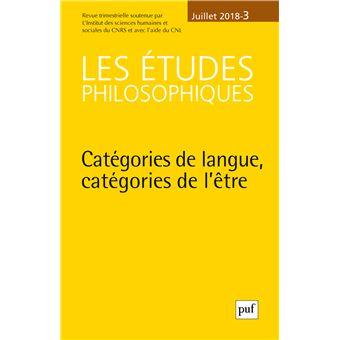 Etudes philosophiques,2018-3:categories de langues categorie