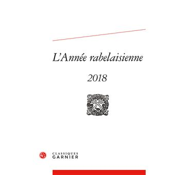 L'annee rabelaisienne,2018-2