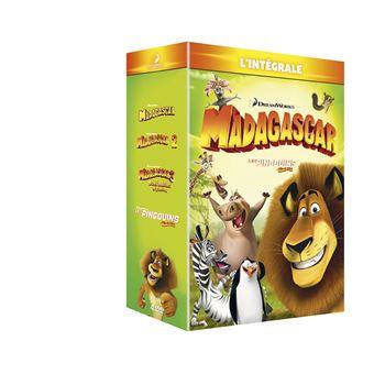 MadagascarCoffret 100% Madagascar L'intégrale des 4 films DVD