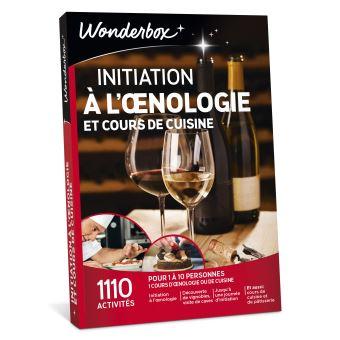Coffret Cadeau Wonderbox Cours Doenologie Et De Cuisine