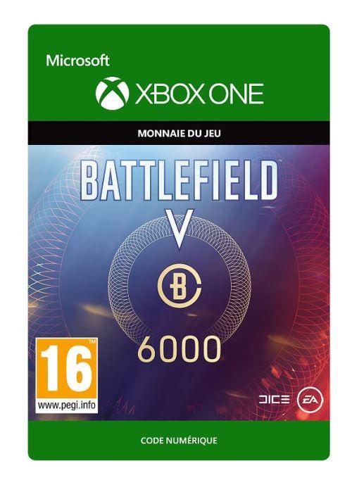 Code de téléchargement Battlefield V Monnaie de Battlefield 6000 Xbox One