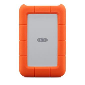 Disque dur portable LaCie Rugged 1 To USB-C Orange
