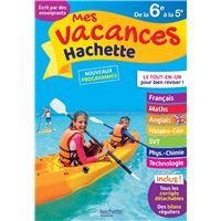 Mes vacances Hachette 6E/5E - Cahier de vacances 2020