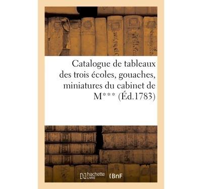 Catalogue de tableaux des trois écoles, gouaches, miniatures du cabinet de M***. vente 14 avril 1783