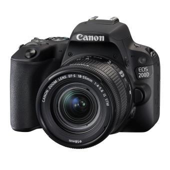 Canon Eos 200D Black + 18-55mm IS STM CP