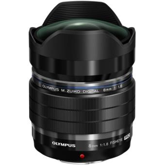 objectif hybride olympus m zuiko digital 8 mm f 1 8 fisheye ed focale fixe. Black Bedroom Furniture Sets. Home Design Ideas