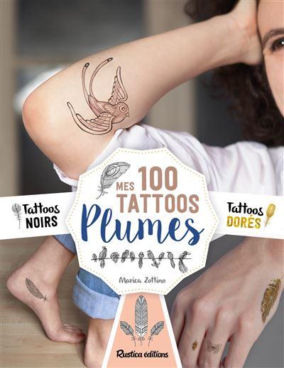Mes 100 tattoos plume
